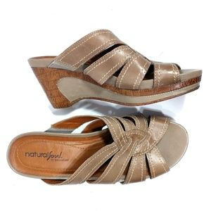 natural sole naturalizer wedge size 8 Lynette